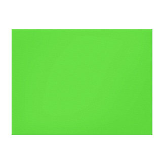 Lime Green Solid Color Canvas Print