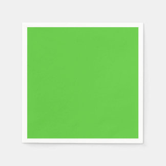 Lime Green Solid Color Standard Cocktail Napkin