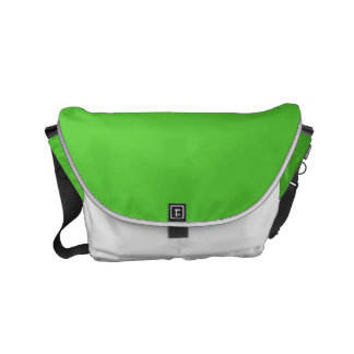 Lime Green Solid Color Small Messenger Bag