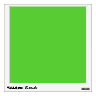Lime Green Solid Color Wall Decal