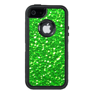 Lime Green Sparkly Faux Glitter look Texture OtterBox Defender iPhone Case