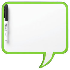 Lime Green Speech Bubble Wall Decor Customize This Dry-erase Board at Zazzle