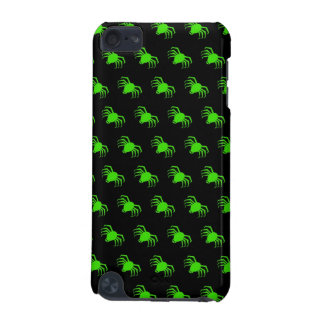 Lime Green Spiders on Black iPod Touch (5th Generation) Case