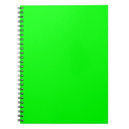 Lime Green Spiral Notebooks