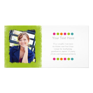 Lime Green Sponge Photo Frame Photo Cards