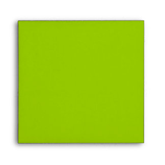 Lime Green Square Scrollwork Monogram Envelopes