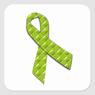 Lime Green Square Sticker