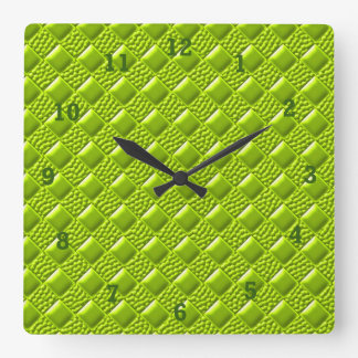 Lime Green Square Wall Clock