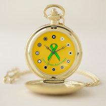 Lime Green Standard Ribbon (Bf) by K Yoncich Pocket Watch
