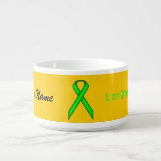 Lime Green Standard Ribbon by Kenneth Yoncich Bowl