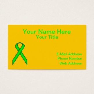 Lime Green Standard Ribbon by Kenneth Yoncich Business Card