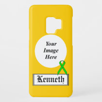 Lime Green Standard Ribbon by Kenneth Yoncich Case-Mate Samsung Galaxy S9 Case