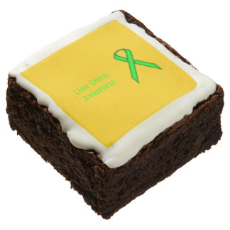 Lime Green Standard Ribbon by Kenneth Yoncich Chocolate Brownie