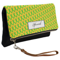 Lime Green Standard Ribbon by Kenneth Yoncich Clutch