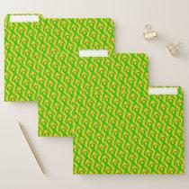 Lime Green Standard Ribbon by Kenneth Yoncich File Folder