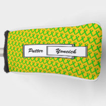 Lime Green Standard Ribbon by Kenneth Yoncich Golf Head Cover