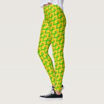 Lime Green Standard Ribbon by Kenneth Yoncich Leggings