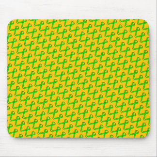 Lime Green Standard Ribbon by Kenneth Yoncich Mouse Pad