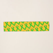 Lime Green Standard Ribbon by Kenneth Yoncich Scarf