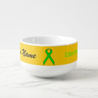 Lime Green Standard Ribbon by Kenneth Yoncich Soup Mug