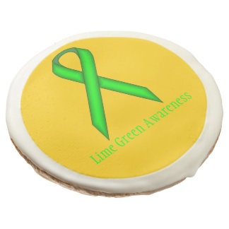Lime Green Standard Ribbon by Kenneth Yoncich Sugar Cookie
