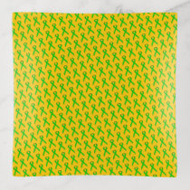 Lime Green Standard Ribbon by Kenneth Yoncich Trinket Trays
