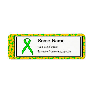 Lime Green Standard Ribbon Label