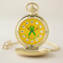 Lime Green Standard Ribbon (Mf) by K Yoncich Pocket Watch