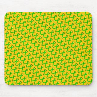 Lime Green Standard Ribbon Mouse Pad