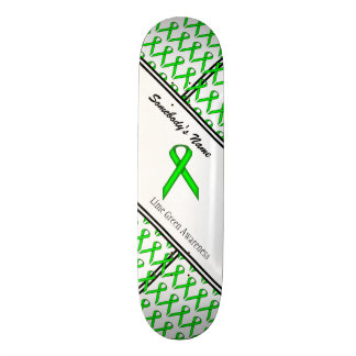 Lime Green Standard Ribbon Skateboard Deck