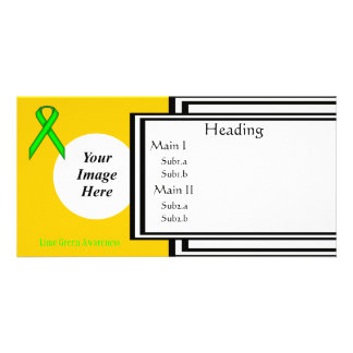Lime Green Standard Ribbon Template