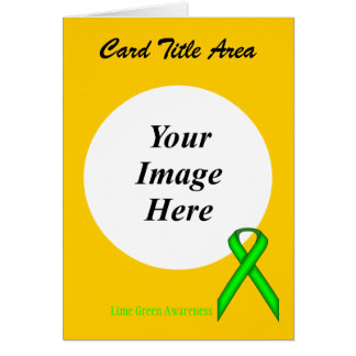 Lime Green Standard Ribbon Template Card