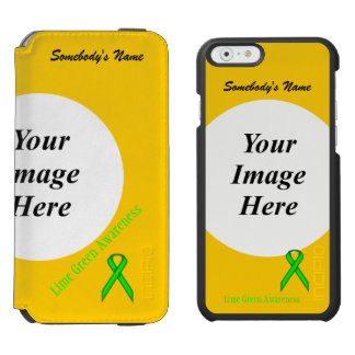 Lime Green Standard Ribbon Template iPhone 6/6s Wallet Case