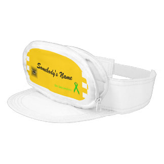 Lime Green Standard Ribbon Template Visor
