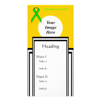Lime Green Standard Ribbon Tmpl by Kenneth Yoncich Card