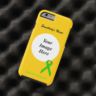 Lime Green Standard Ribbon Tmpl by Kenneth Yoncich Tough iPhone 6 Case