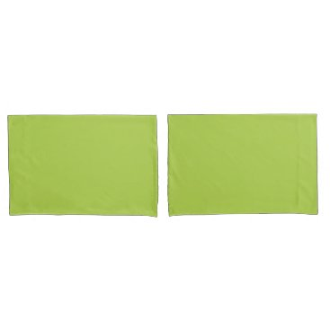USA Themed Lime Green Standard Sized Pair of Pillowcases