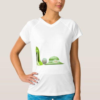 Lime Green Stiletto, Cupcake and Hat Art T-Shirt