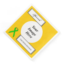 Lime Green Stnd Ribbon Template by Kenneth Yoncich Paper Dinner Napkin