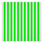 Lime Green Striped Pattern Print