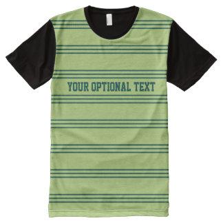 Lime Green Stripes custom t-shirt