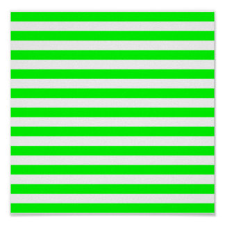 Lime Green Stripes Posters