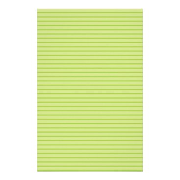 Beach Themed Lime Green Stripes Stationery