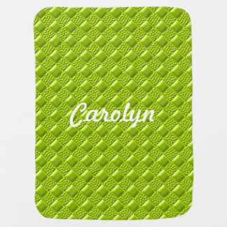 Lime Green Stroller Blanket