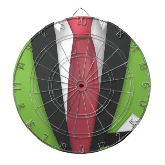 Lime Green Suit Dartboard With Darts