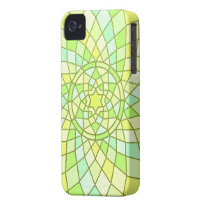 Lime green sunny yellow Spring Renewal Mandala Case-Mate iPhone 4 Case