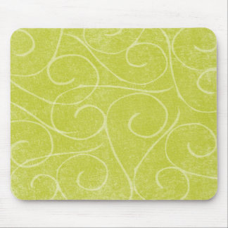 Lime Green Swirls Mouse Mat