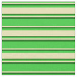 [ Thumbnail: Lime Green, Tan, and Dark Green Colored Lines Fabric ]