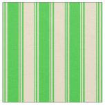 [ Thumbnail: Lime Green & Tan Pattern of Stripes Fabric ]