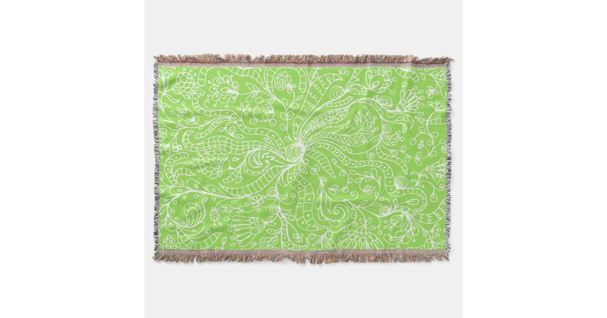lime green template throw blanket zazzle. Black Bedroom Furniture Sets. Home Design Ideas